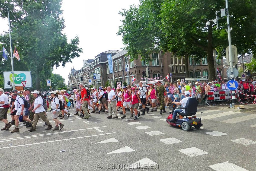 Vierdaagse lopers in Nijmegen