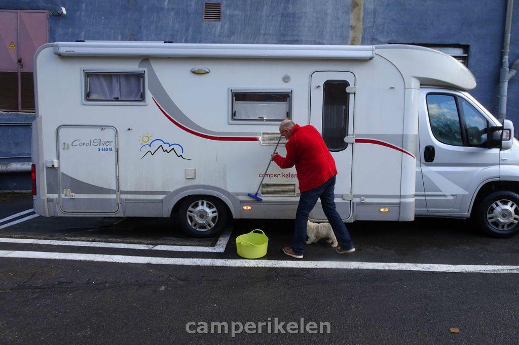 Camper schoonmaken