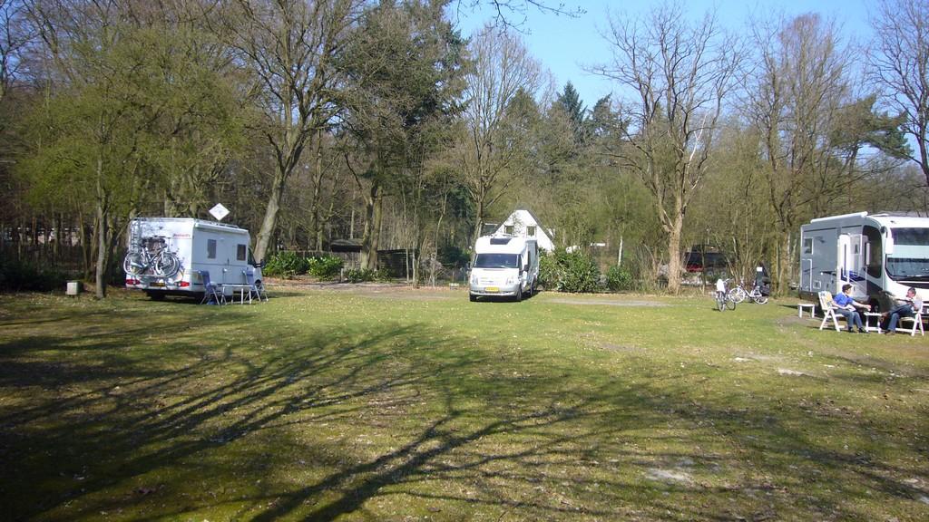 Aankomst op de camping