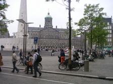 Op de Dam in Amsterdam