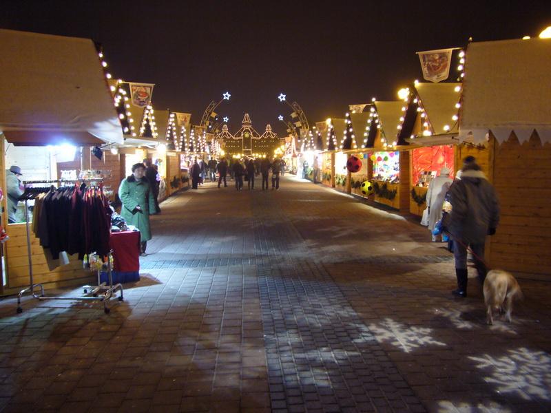 Kerstmarkt 's avonds