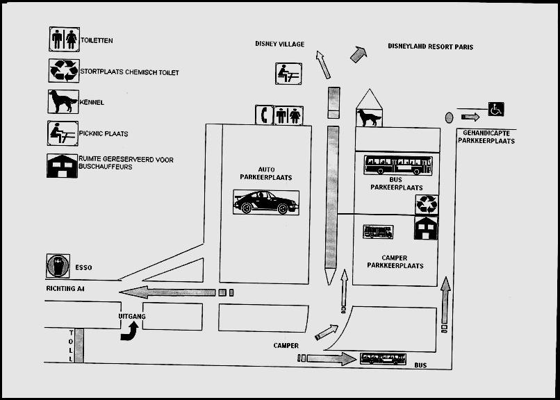 Plattegrond Parkeerplaats