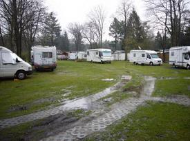 Veel plassen op de camping