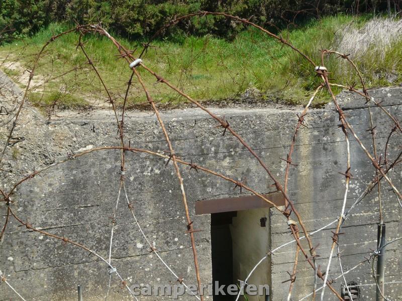 Overblijfselen van een bunker bij Pointe du Hoc
