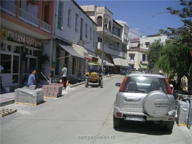 Wegwerkzaamheden in Galatas