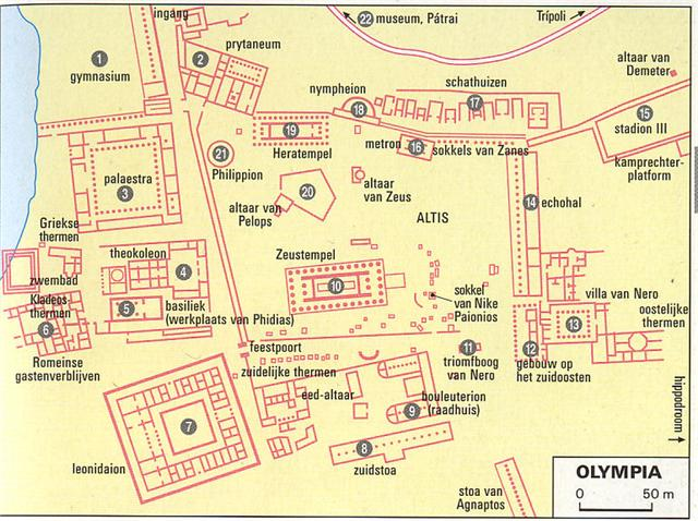 Plattegrond van Olympia