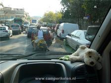 Chaos in het verkeer in Nafplio