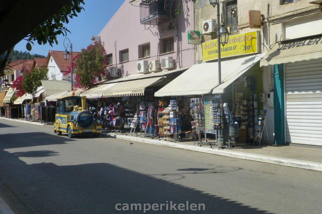 Toeristen winkeltjes in Katakolo