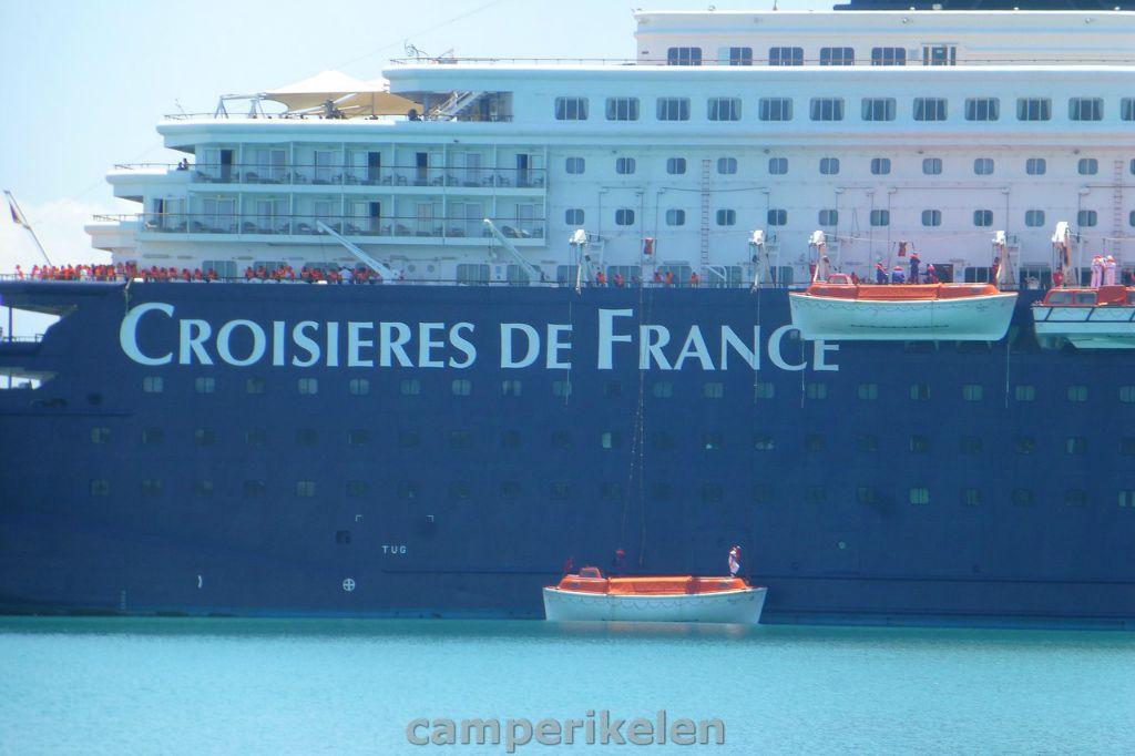 Ramp oefening op een cruiseschip