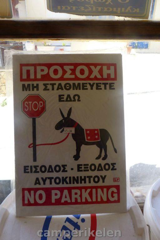 Ezels niet parkeren
