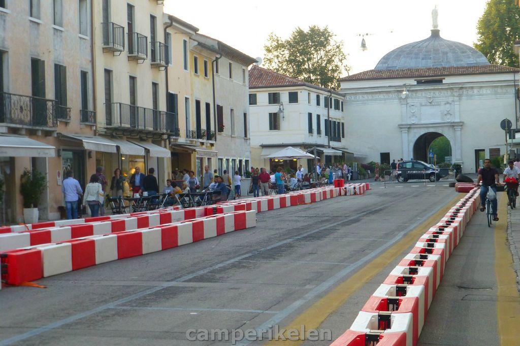 Uitgezet parcours in Treviso