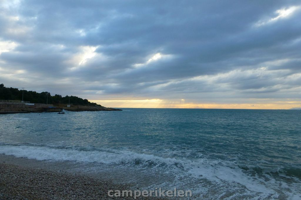 Zonsopkomst over de Adriatische zee
