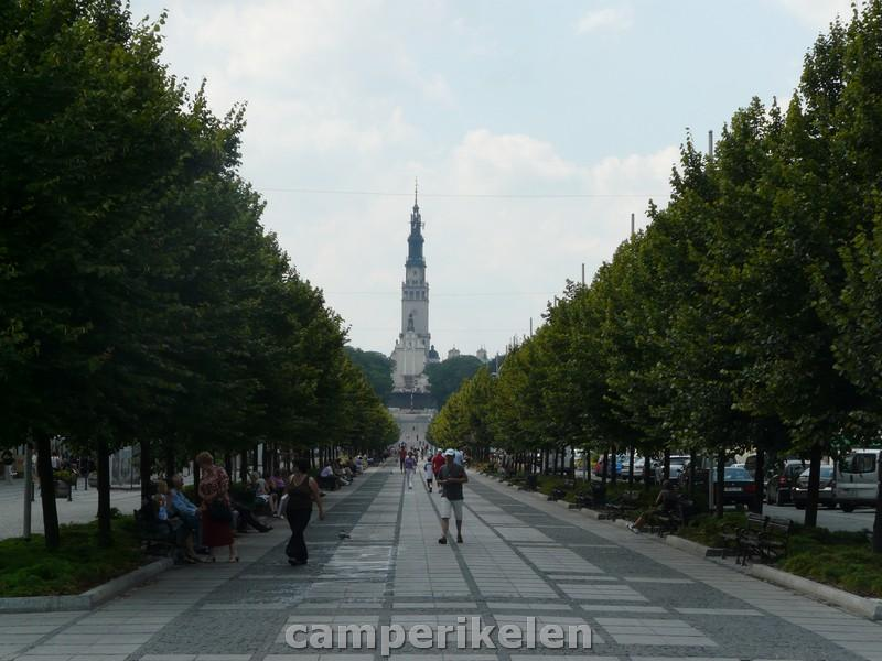 Czestochowa met op de achtergrond Jasna Góra