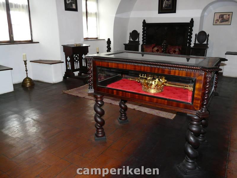 Kroon van de koningin in kasteel Dracula