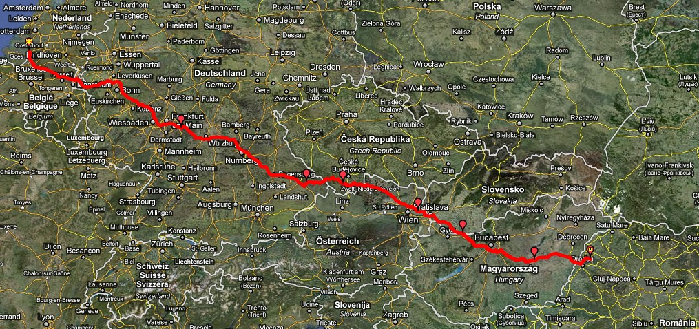 Route naar Roemenië