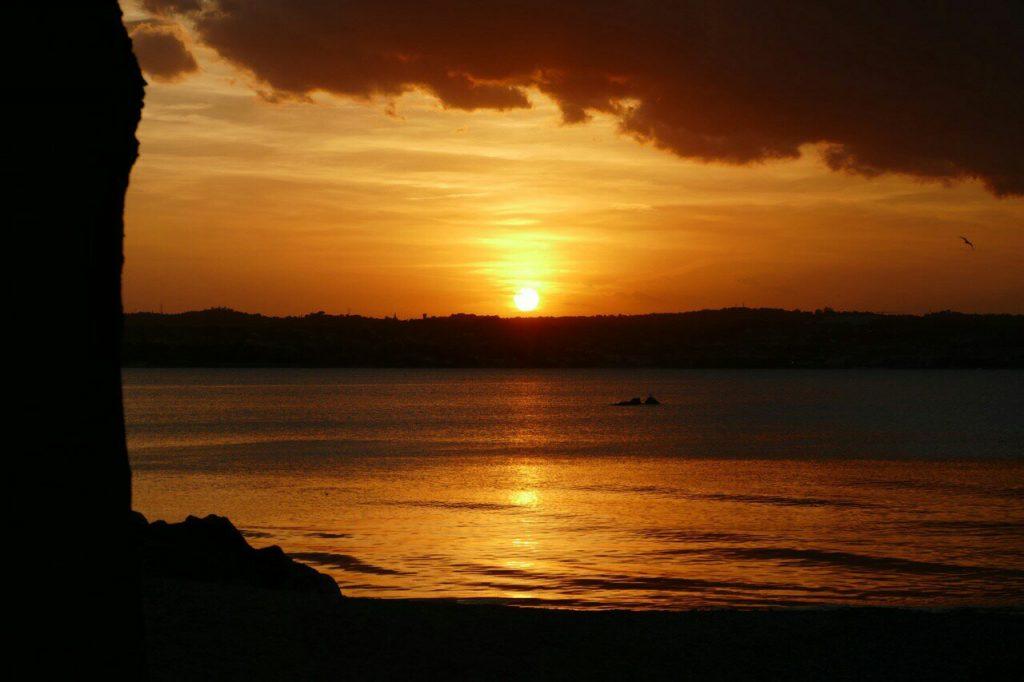 Zonsondergang aan het Garda meer